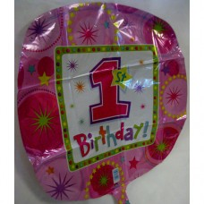 Balloon - Birthday - 1st - Girl