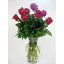 Dozen Red Roses Vased